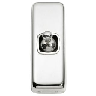 FLAT PLATE TOGGLE CHROME PLATE-WHITE