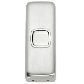 FLAT PLATE ROCKER SATIN CHROME-WHITE