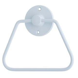 TOWEL RING WHITE
