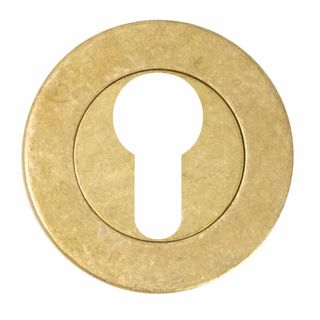 EURO ESCUTCHEONS RUMBLED BRASS