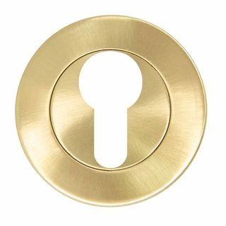 EURO ESCUTCHEONS SATIN BRASS