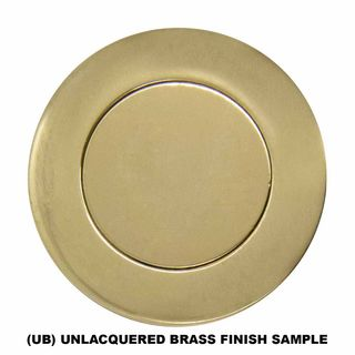 LEVER ON PLATE UNLACQUERED BRASS