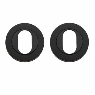 OVAL CYLINDER ESCUTCHEONS MATT BLACK