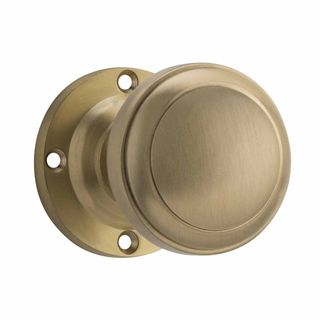 KNOB ON ROSE SATIN BRASS