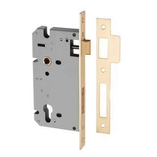 RESIDENTIAL MORTICE LOCKS SATIN BRASS