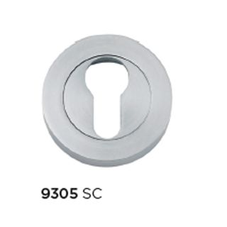ESCUTCHEONS & TURNS SATIN CHROME