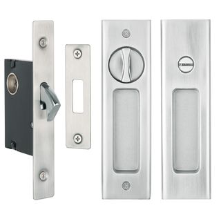 SLIDING DOOR PRIVACY LATCH SATIN NICKEL