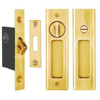 SLIDING DOOR PRIVACY LATCH POLISHED BRASS