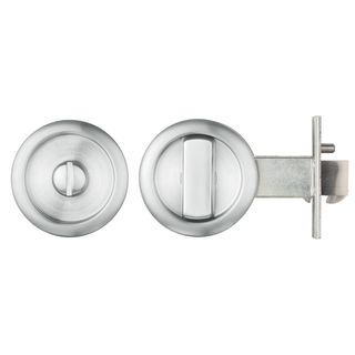 SLIDING DOOR PRIVACY LATCH CHROME PLATE