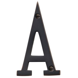 LETTERS & NUMBERS OIL RUBBED BRONZE