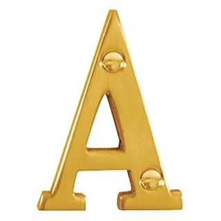 LETTERS & NUMBERS POLISHED BRASS