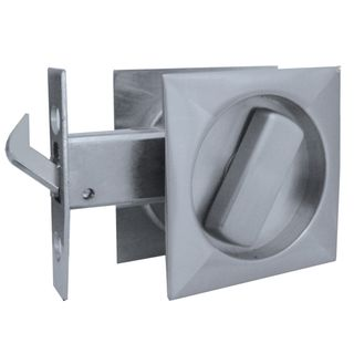 SLIDING DOOR PASSAGE LATCH SATIN CHROME
