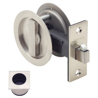 SLIDING DOOR PRIVACY LATCH STAINLESS STEEL