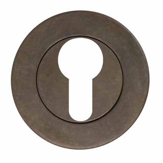 ESCUTCHEONS & TURNS MATT ANTIQUE BRONZE