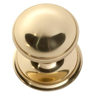 DOOR CENTRE KNOBS POLISHED BRASS