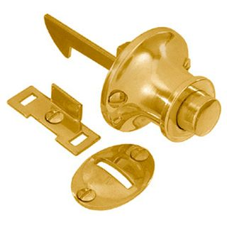 CABINET PUSH CATCH POLISHED BRASS
