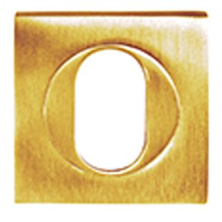 OVAL CYLINDER ESCUTCHEONS POLISHED BRASS