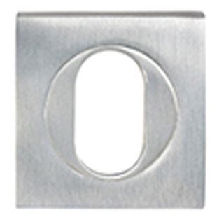 OVAL CYLINDER ESCUTCHEONS CHROME PLATE