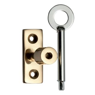 FANLIGHT STAY LOCKING PINS POLISHED BRASS