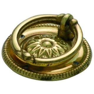 CABINET RING PULLS POLISHED BRASS