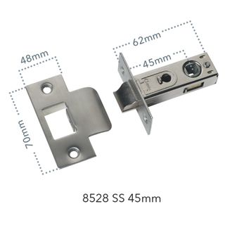 MORTICE LATCHES STAINLESS STEEL