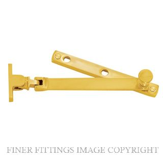 DELF 0726 CASEMENT STAY NARROW STYLE 162MM PB POLISHED BRASS