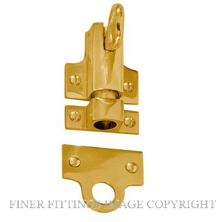 DELF 0749 FANLIGHT CATCH PB POLISHED BRASS