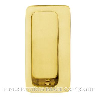 DELF 1271 FLUSH PULL CONCEALED FIX 100MM PB POLISHED BRASS