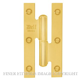DELF 1710LH 100x55MM LIFT OFF HINGE LEFT HAND PB POLISHED BRASS