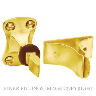 DELF 1858 DOOR MOUNTED AUTO DOOR CATCH PB POLISHED BRASS