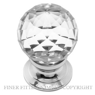 DELF DF27125-DF27135 CUT GLASS CABINET KNOBS CHROME