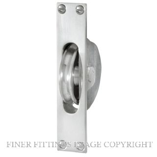 DELF 3301 SASH PULLEY FOR D/H WINDOW SATIN CHROME