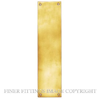 DELF 3022P FINGER PLATE (PLAIN) 300 x 75MM POLISHED BRASS
