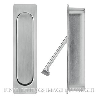 DELF 70172 SLIDING DOOR EDGE PULL SPRUNG 92x25MM CP CHROME PLATE