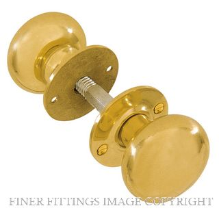 DELF 7777 FRENCH DOOR KNOB FURNITURE POLISHED BRASS