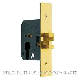 DELF DF9054 EURO SLIDING DOOR LOCKS POLISHED BRASS