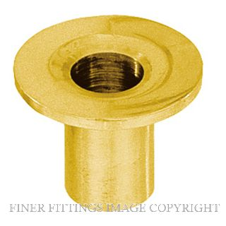 DELF 9350 TOP HAT SOCKET 10MM POLISHED BRASS