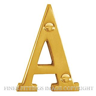 DELF DF9955A-DF9955D 50MM LETTERS POLISHED BRASS