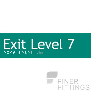 EXIT LEVEL 7 SIGN BRAILLE GREEN