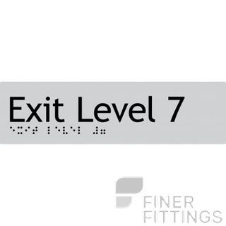 EXIT LEVEL 7 SIGN BRAILLE SILVER