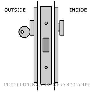 LEGGE S1 SLIDING DOOR LOCK KITSET SATIN CHROME
