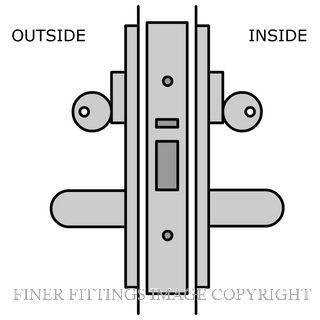 LEGGE 995 C27-C28 38MM WOOD FIX GLASS DOOR LOCKSET SATIN CHROME