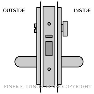 LEGGE 995 C33-C34 38MM METAL FIX PRIVACY LATCH SATIN CHROME