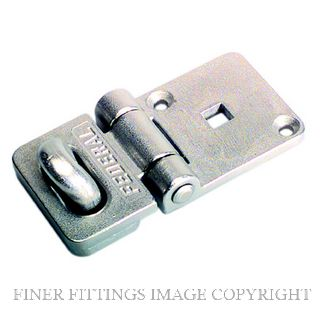 FEDERAL 7001 HASP & STAPLE 120 x 60MM GREY