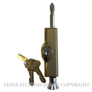 CARBINE C500 LOCKABLE PATIO BOLT POLISHED BRASS