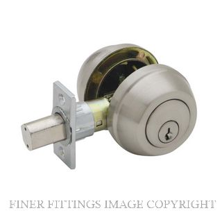 SCHLAGE REGENT RD162 ROUND ROSE DEADBOLT DBLE KEY SATIN NICKEL