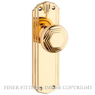 TRADCO 810 DECO KNOB FURNITURE POLISHED BRASS