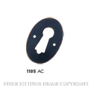 TRADCO 1185 PRESSED ESCUTCHEON ANTIQUE COPPER