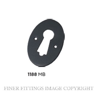 TRADCO 1188 PRESSED ESCUTCHEON MATT BLACK