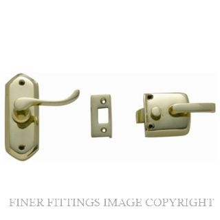 TRADCO SCREEN DOOR LATCH R/H EXTERNAL POLISHED BRASS